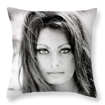 Sophia Loren Throw Pillow