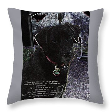 Throw Pillow featuring the mixed media Sophie by Charles Shoup