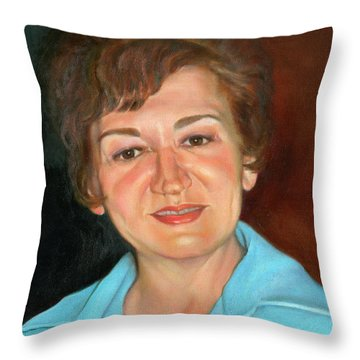Throw Pillow featuring the painting Sophie by Marlene Book