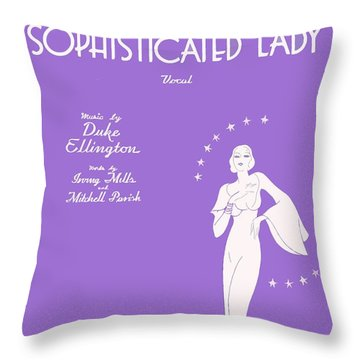 Sophisticated Lady Sheet Music Art Throw Pillow