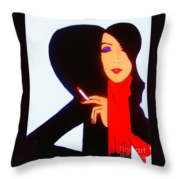 Throw Pillow featuring the painting Sophistication by Roberto Prusso