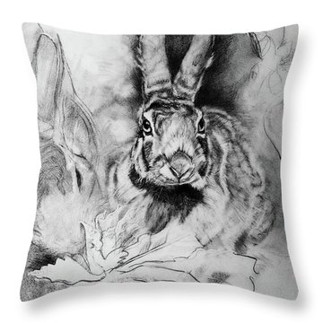 Soporific- Hungry Rabbits Throw Pillow