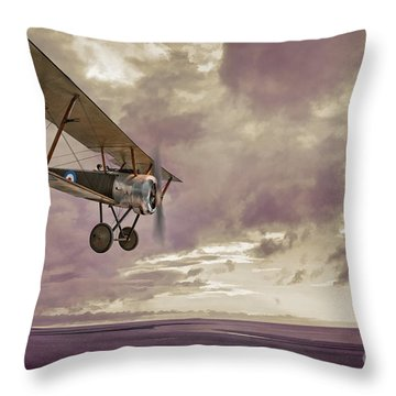 Sopwith Pup Biplane Throw Pillow