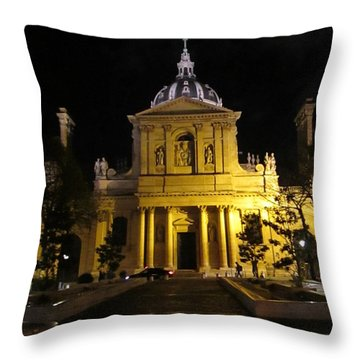 Sorbonne Night Throw Pillow