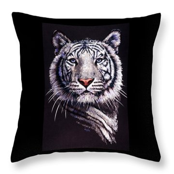 Throw Pillow featuring the drawing Sorcerer by Barbara Keith