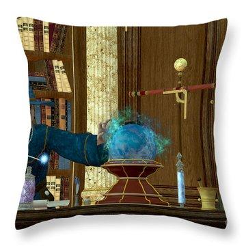 Sorcerer Magician Throw Pillow