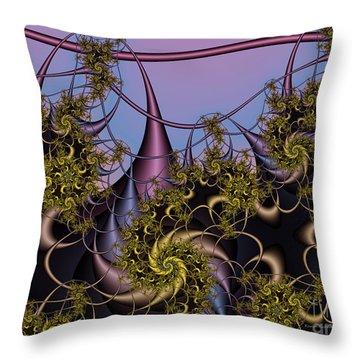 Throw Pillow featuring the digital art Sorcerers Apprentice by Karin Kuhlmann