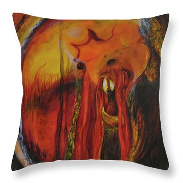 Sorcerer's Gate Throw Pillow by Christophe Ennis