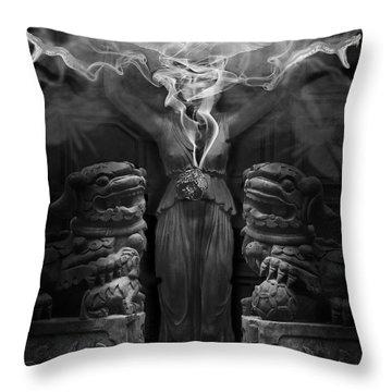 Sorceress Throw Pillow by Larry Butterworth