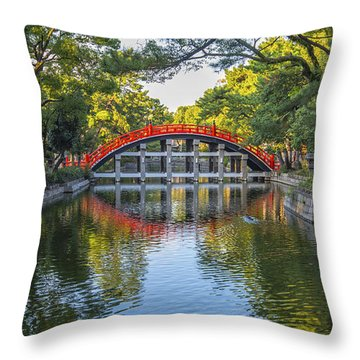 Sorihashi Bridge In Osaka Throw Pillow