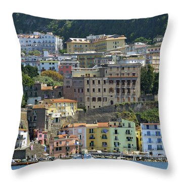 Capri's Marina Piccola Throw Pillow