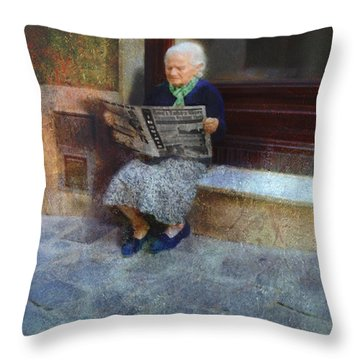 Sorrento News Throw Pillow