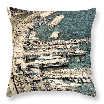 Throw Pillow featuring the photograph Sorrento's Harbor, Italy by Merton Allen