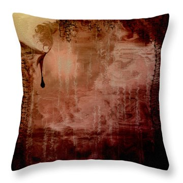 Sorrow Throw Pillow by Linda Sannuti
