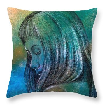 Sorry Throw Pillow by Susan DeLain