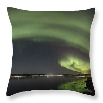 Sortland Strait Throw Pillow