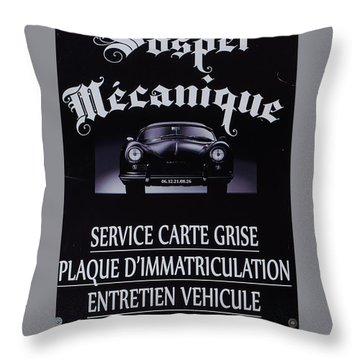Sospel Mechanic Throw Pillow