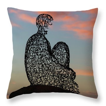 Soul At Sunset Throw Pillow