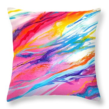 Soul Escaping Throw Pillow by Expressionistart studio Priscilla Batzell