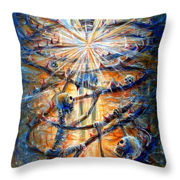 Soul Evolution Throw Pillow by Heather Calderon