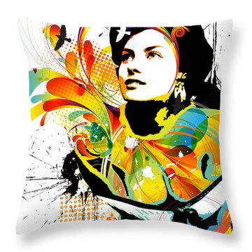 Soul Explosion I Throw Pillow by Chris Andruskiewicz