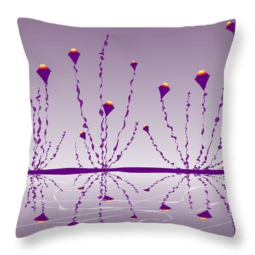 Soul Flowers Throw Pillow by Anastasiya Malakhova