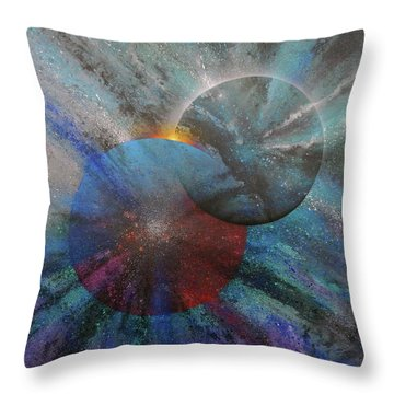 Soul Mates #7 Throw Pillow by David Copson