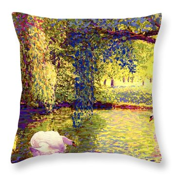 Swans, Soul Mates Throw Pillow