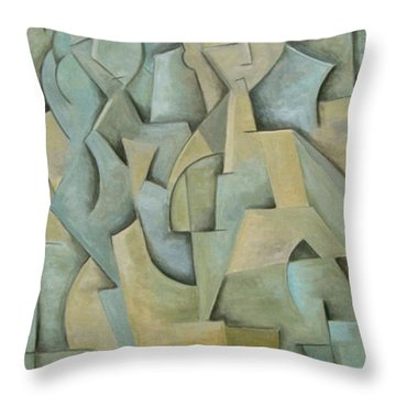 Soul Mates Throw Pillow by Trish Toro
