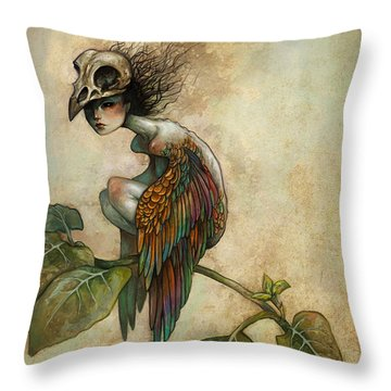 Soul Of A Bird Throw Pillow by Caroline Jamhour