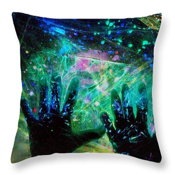 Throw Pillow featuring the photograph Soul Of An Artist Experimental Light Photography by David Mckinney