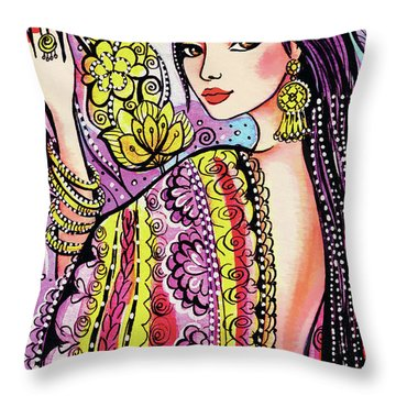 Soul Of India Throw Pillow