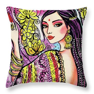 Soul Of India Throw Pillow