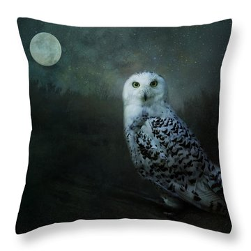Soul Of The Moon Throw Pillow