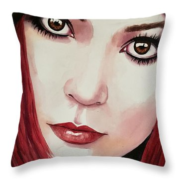 Throw Pillow featuring the painting Soul Sister by Michal Madison