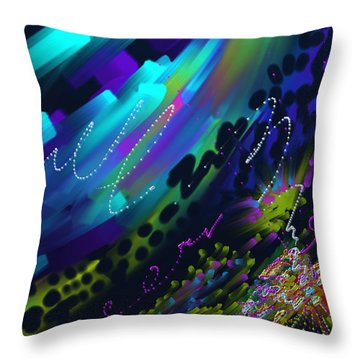 Soul So Blue Throw Pillow