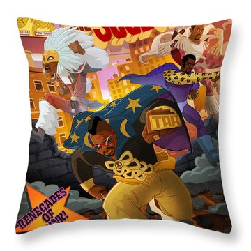 Soul Sonic Force Throw Pillow by Nelson  Dedos Garcia