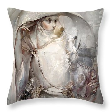 Throw Pillow featuring the digital art Soul by Te Hu
