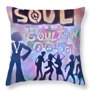 Soul Train 1 Throw Pillow by Tony B Conscious