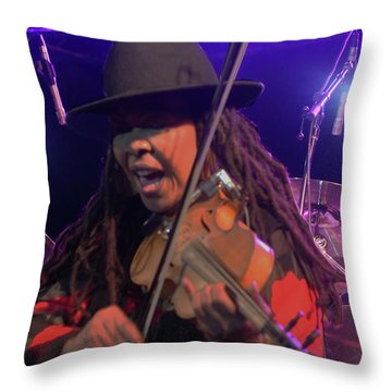 Karen Briggs - Soulchestral Groove Throw Pillow