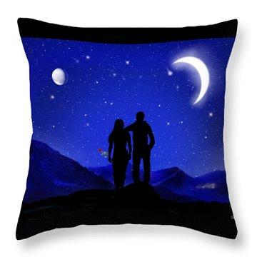 Throw Pillow featuring the digital art Soulmates by Bernd Hau