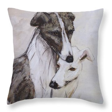 Soulmates Throw Pillow by Ron Hevener