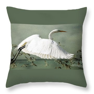 Souls Take Flight ... Throw Pillow by Chris Armytage