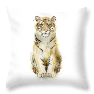 Sound Throw Pillow by Amy Hamilton