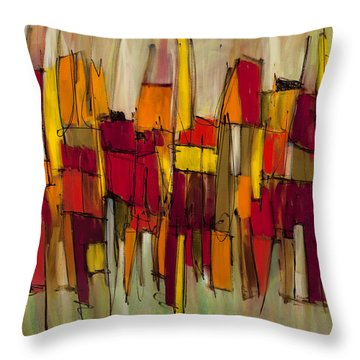 Sound And Fury Three Throw Pillow by Lynne Taetzsch