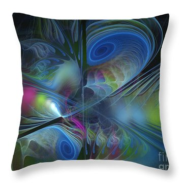 Throw Pillow featuring the digital art Sound And Smoke by Karin Kuhlmann