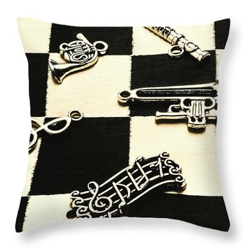 Sound Cheque Throw Pillow