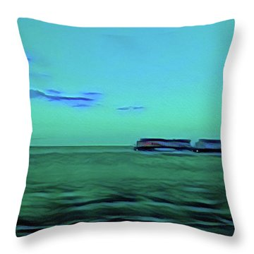 Sound Of A Train In The Distance Throw Pillow
