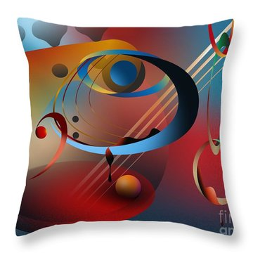 Sound Of Bass Guitar Throw Pillow by Leo Symon