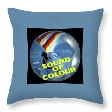 Sound Of Colour Throw Pillow